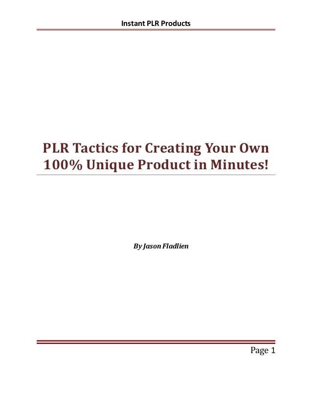 3 Ways to Quickly Implement PLR in Your Business