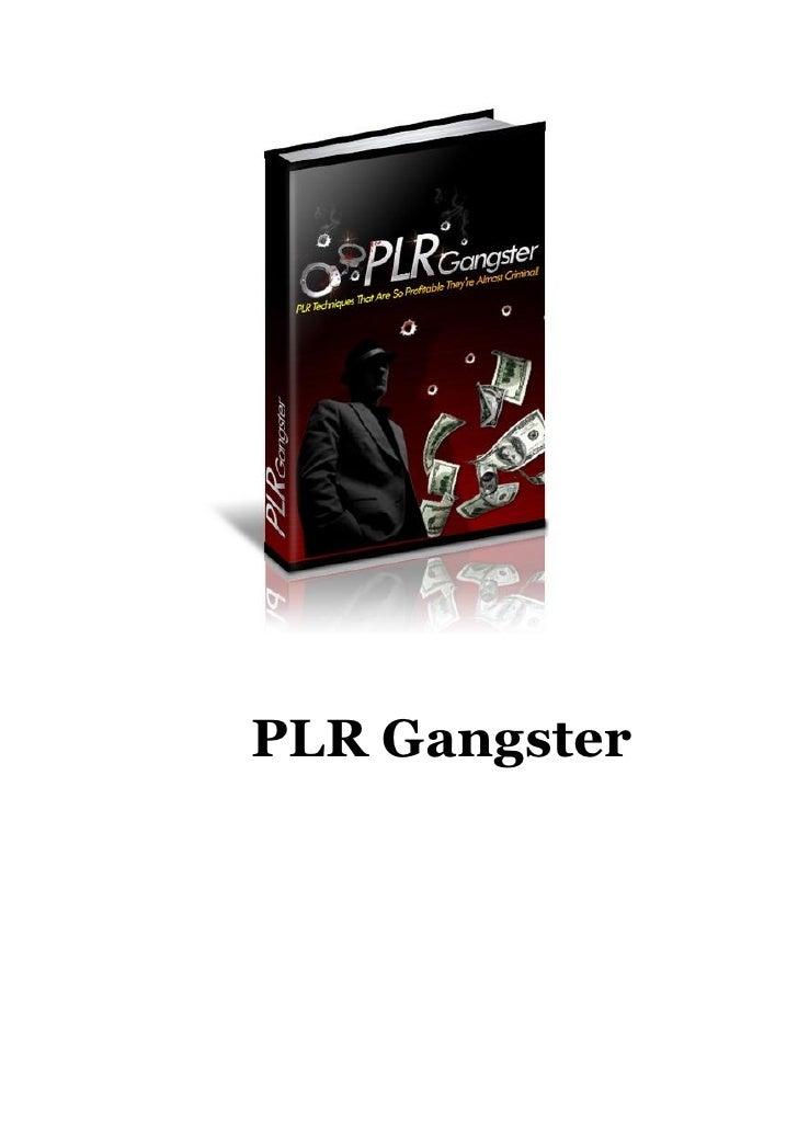 PLR Gangster