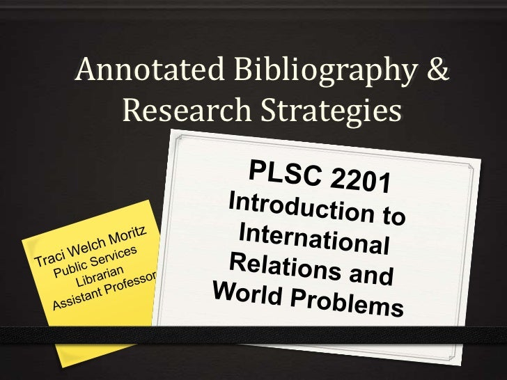 PLSC 2201 Introduction to International Relations and World Problems
