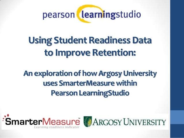 Argosy University Uses SmarterMeasure with Pearson Learning Studio