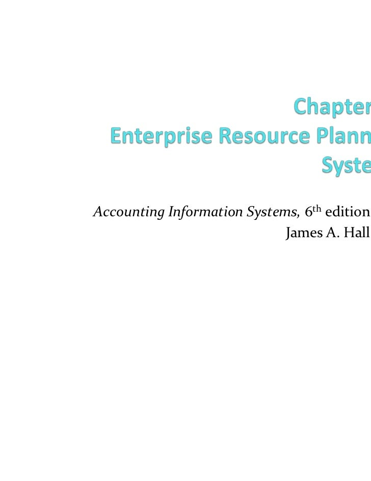 Accounting Information Systems, 6th edition                                  James A. HallCOPYRIGHT © 2009 South-Western, ...