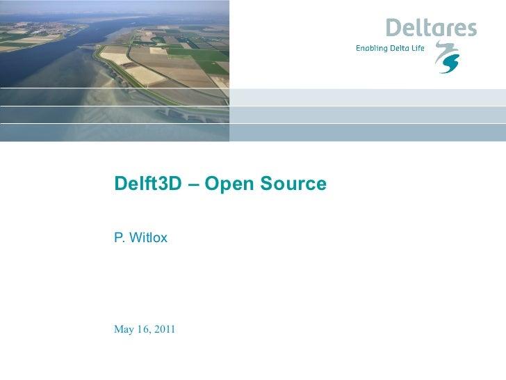 Delft 3D - open source - Liferay NL Community Event 17 mei 2011