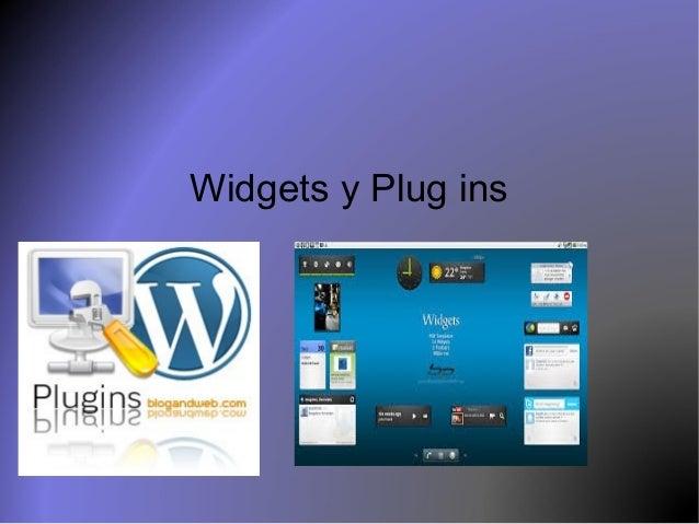 Widgets y Plug ins