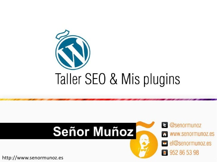 Plugins seo: WordCamp Spain 2010