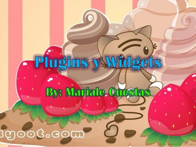 Plugins y widgets
