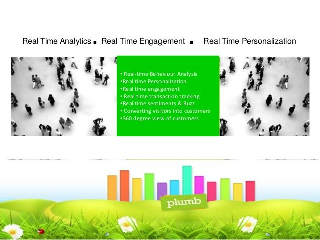 Real Time Analytics   .   Real Time Engagement          .      Real Time Personalization                              • Re...