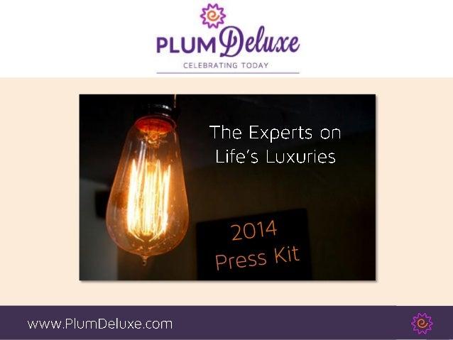Plum Deluxe Press Kit / Media Kit