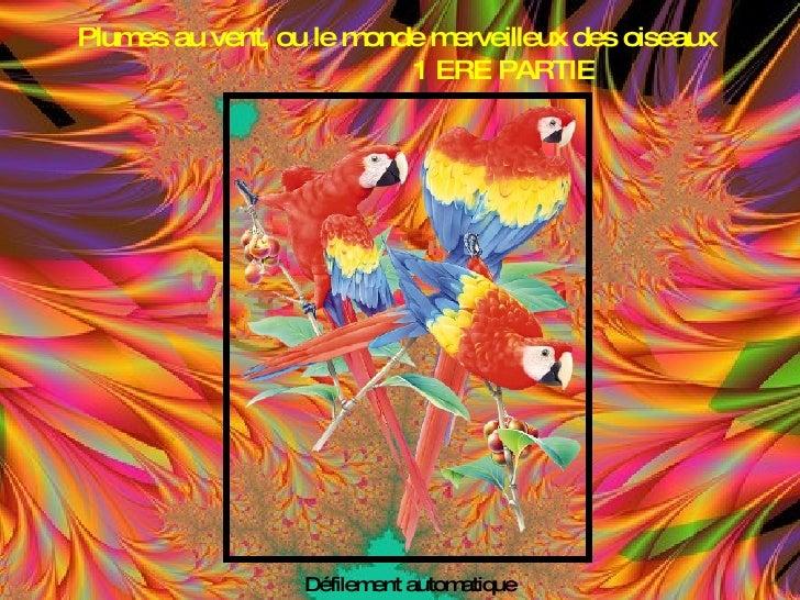 Plum au vent, ou le m     es               onde merveilleux des oiseaux                         1 ERE PARTIE              ...