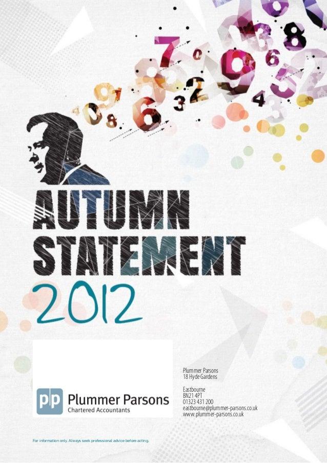 Autumn Statement 2012