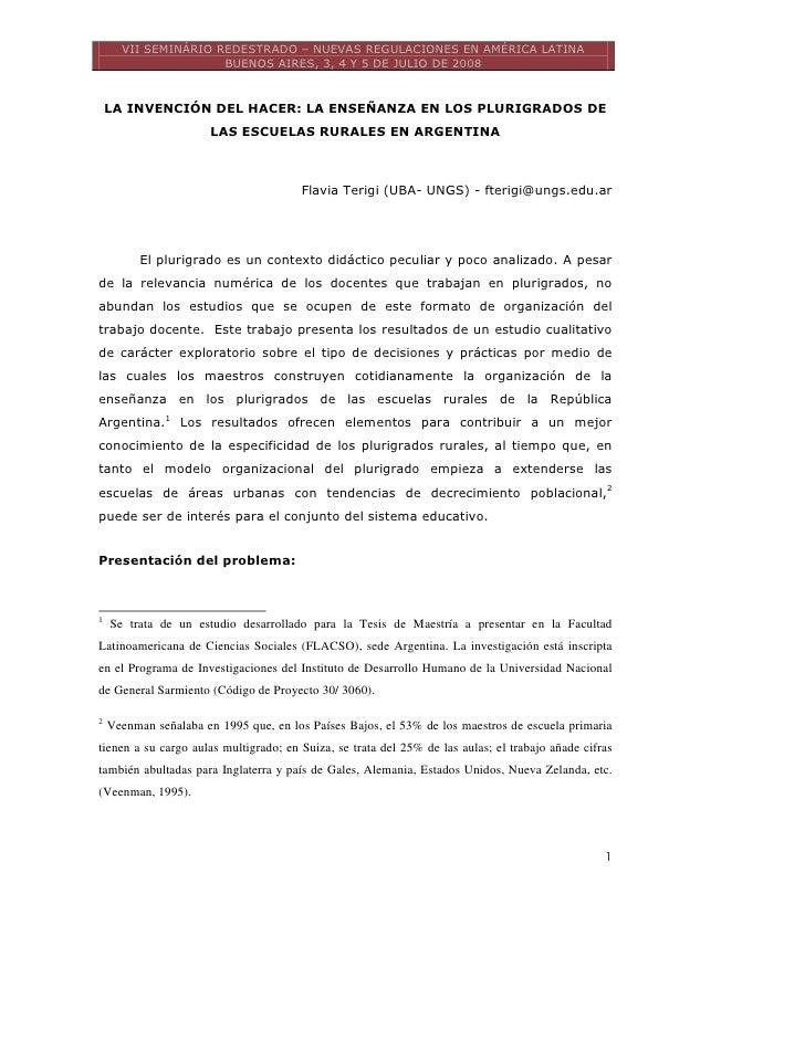 VII SEMINÁRIO REDESTRADO – NUEVAS REGULACIONES EN AMÉRICA LATINA                     BUENOS AIRES, 3, 4 Y 5 DE JULIO DE 20...