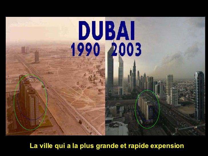 La ville qui a la plus grande et rapide expension
