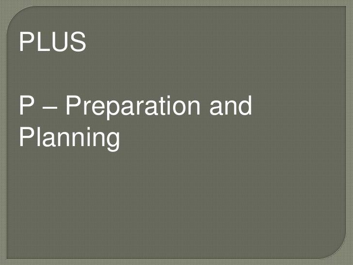 Plus preparation