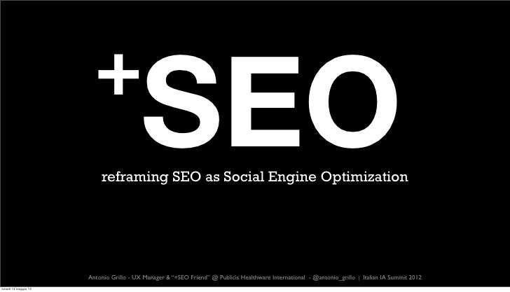 +SEO: Reframing SEO as Social Engine Optimization