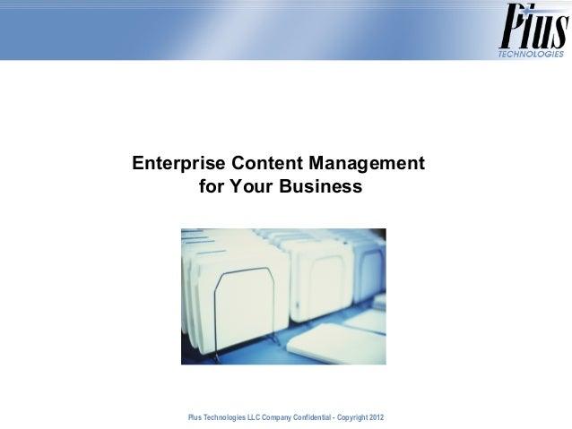 Enterprise Content Management for Your Business