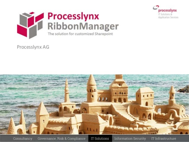 SharePoint App Processlynx Ribbon manager