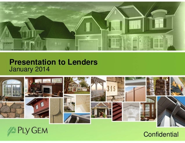 Presentation to Lenders January 2014  Confidential