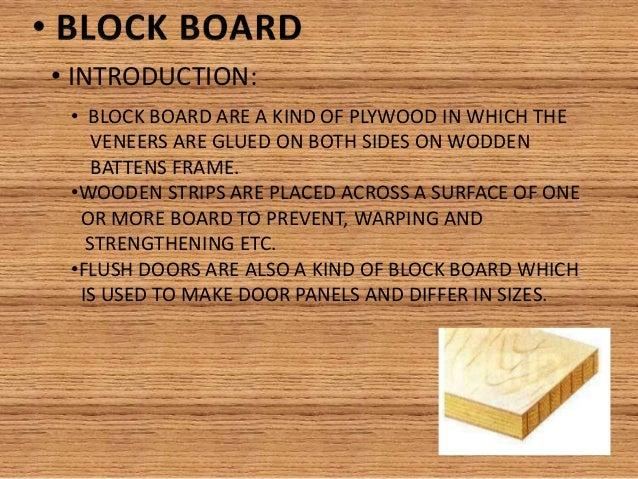 Block Board Uses ~ Plywood