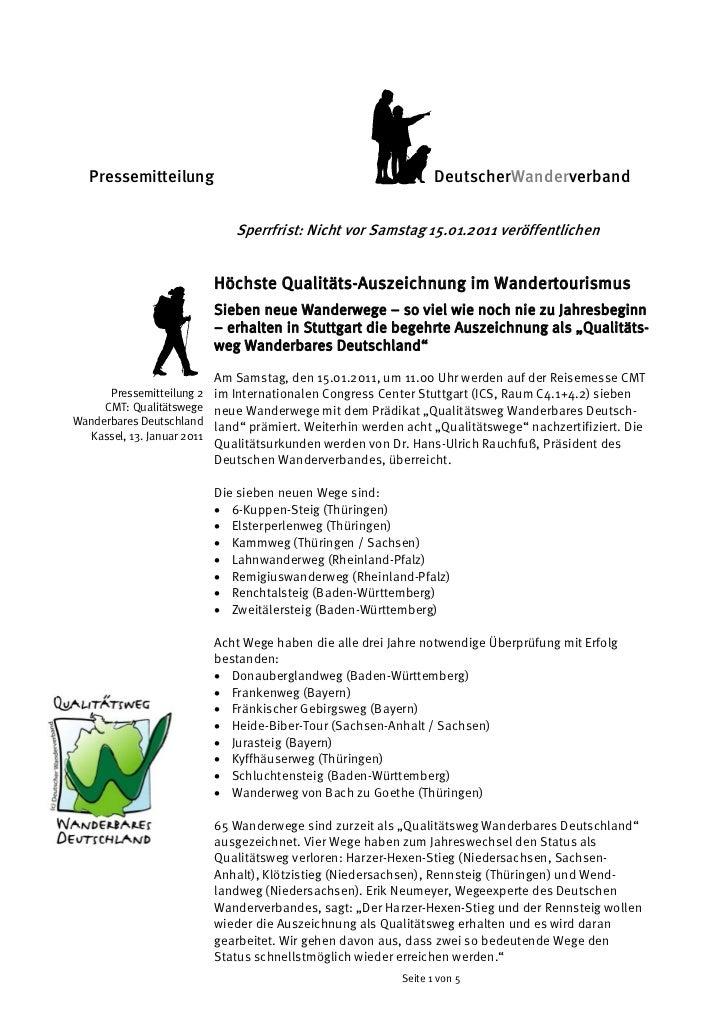 Pressemitteilung                                               DeutscherWanderverband                            Sperrfris...