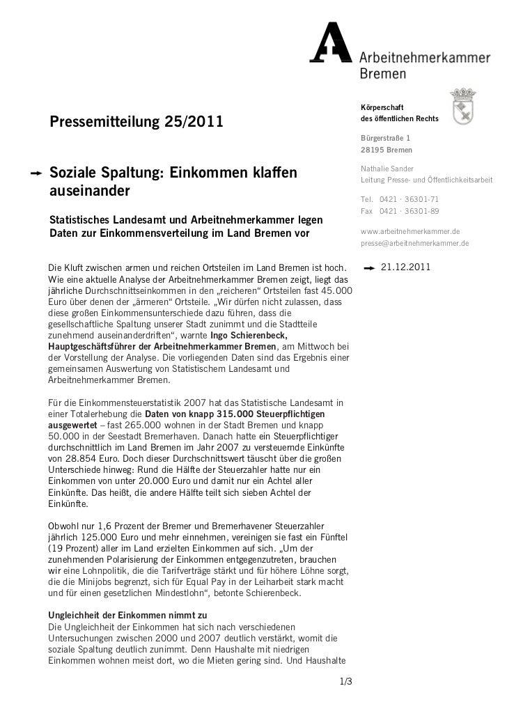 KörperschaftPressemitteilung 25/2011                                                         des öffentlichen Rechts      ...