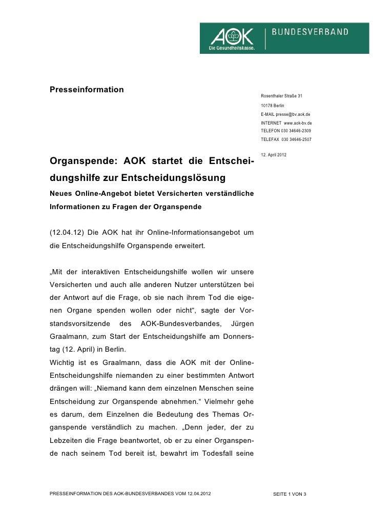 Presseinformation                                                                    Rosenthaler Straße 31                ...