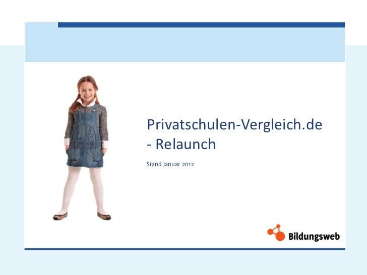 Privatschulen-Vergleich.de- RelaunchStand Januar 2012