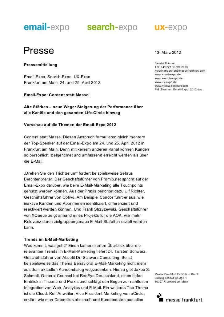 Presse                                                                13. März 2012                                       ...