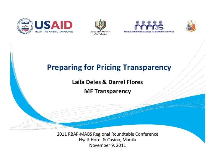 Preparing for Pricing Transparency