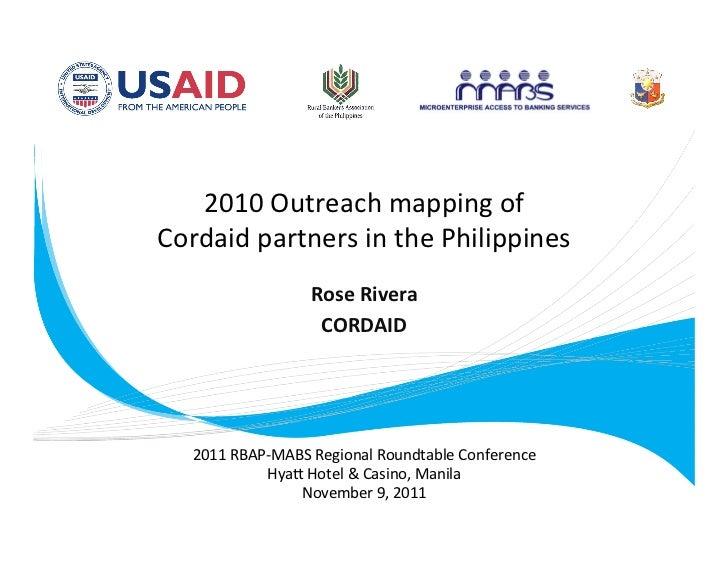 2010Outreachmappingof        CordaidpartnersinthePhilippines                                                     ...