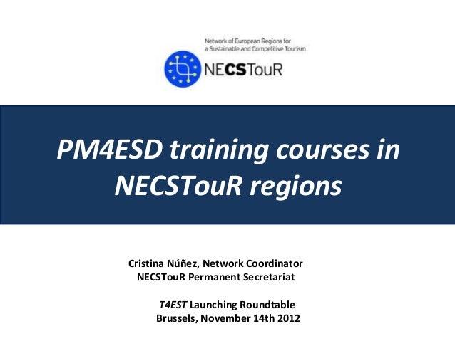 Pm4 esd taining courses in necs tour regions_cristina nunez