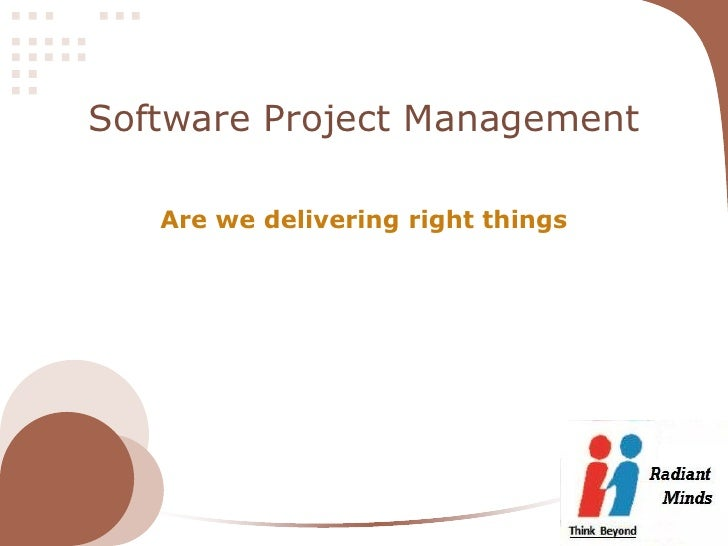 Software Project Management   Are we delivering right things