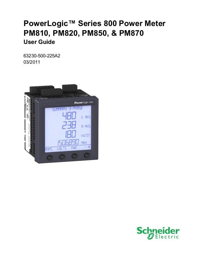 Powerlogic Energy Meter : Pm userguide