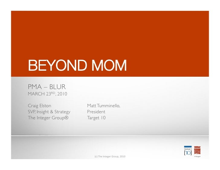 BEYOND MOM
