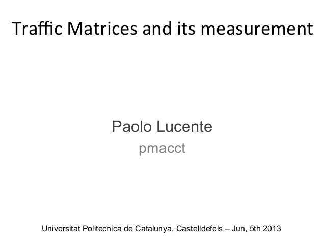 Traffic Matrices and its measurement