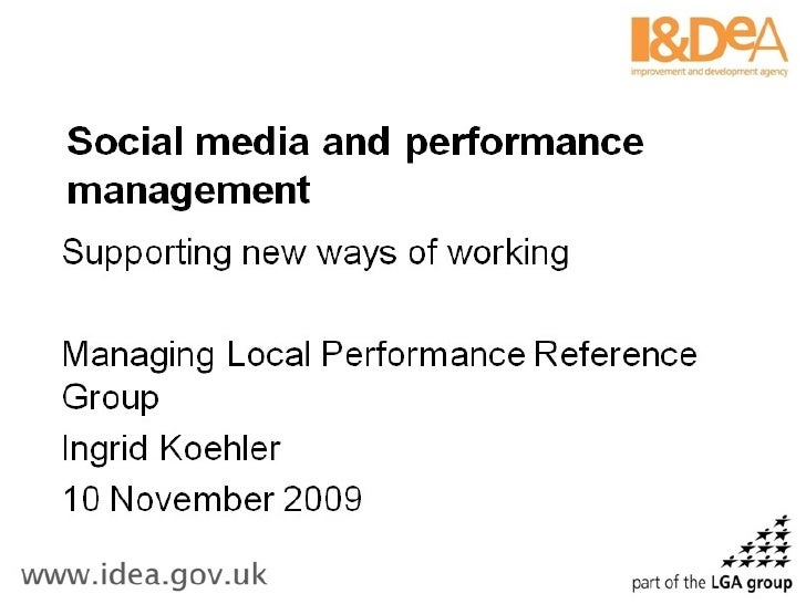 Performance management and social media in local government