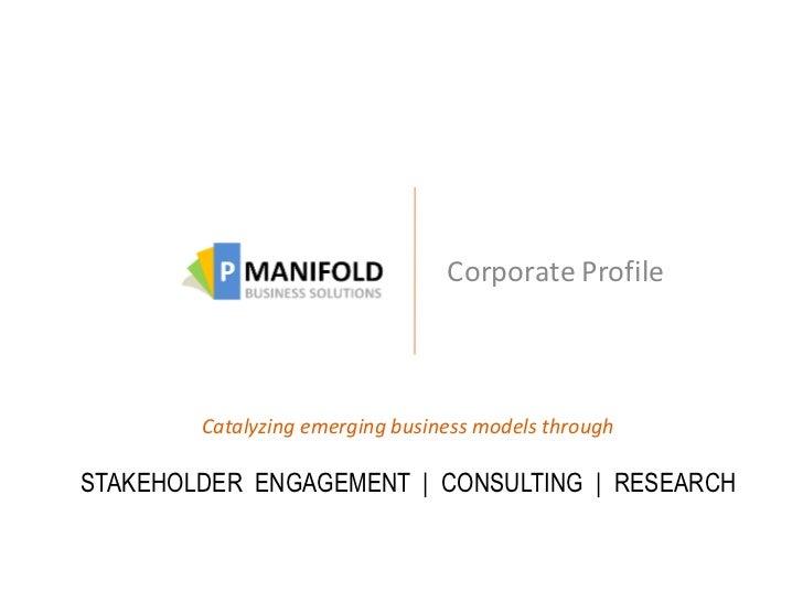 pManifold Corporate Presentation