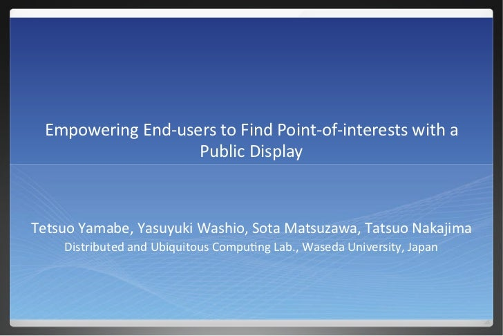 Empowering End-users to Find Point-of-interests with a Public Display