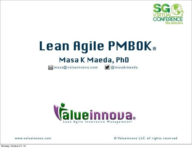 Lean Agile PMBoK