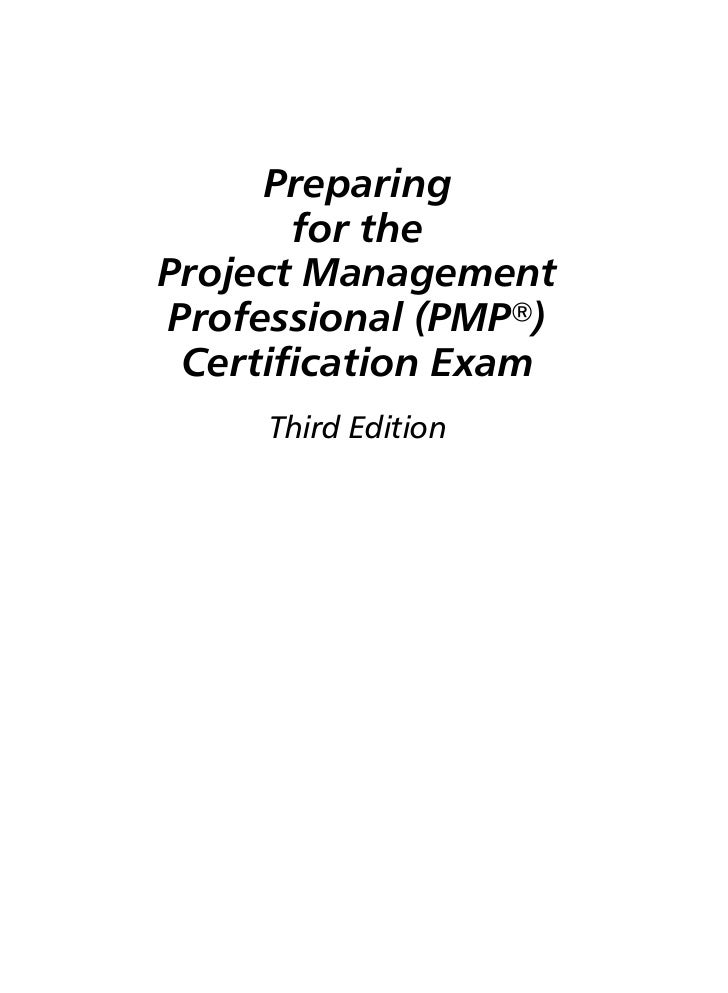 Preparing       for theProject ManagementProfessional (PMPா) Certification Exam          Third Edition    ....................