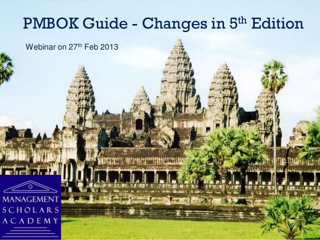 PMBoK guide - changes in 5th edition