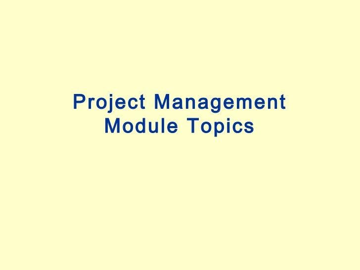 Project Management - Introduction