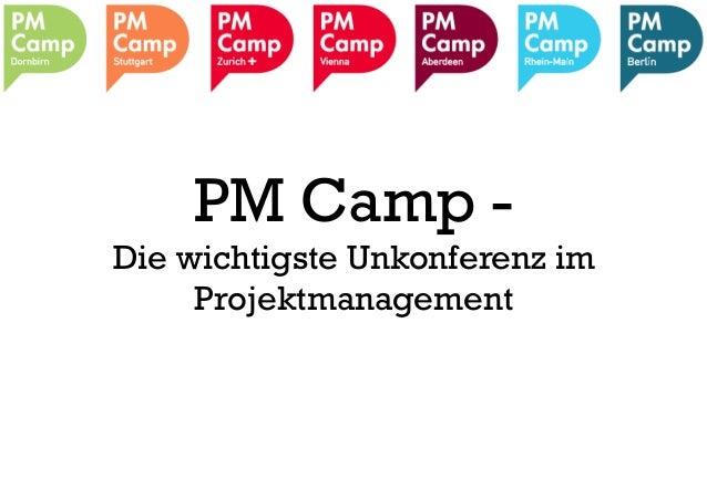 PM Camp - Die wichtigste Unkonferenz im Projektmanagement