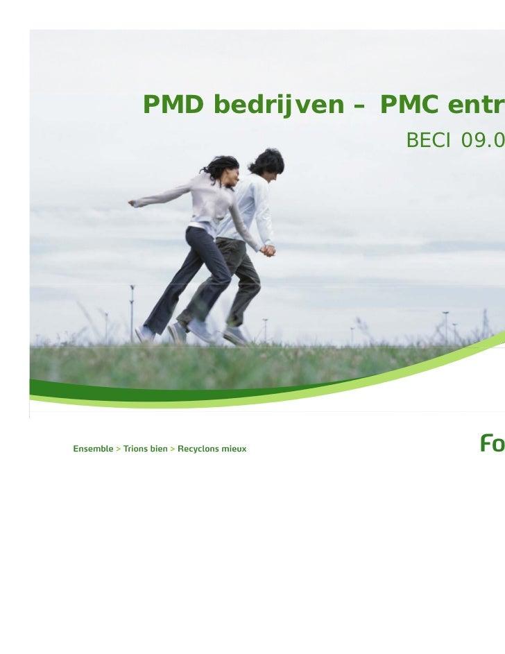 PMD bedrijven – PMC entreprises                 BECI 09.05.2011
