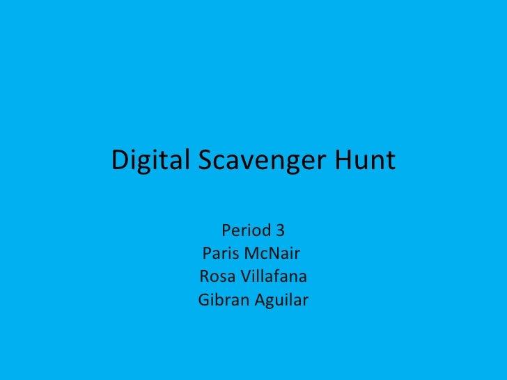 P McNair_digital scavenger hunt