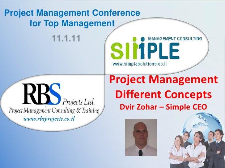 Project Management different concepts