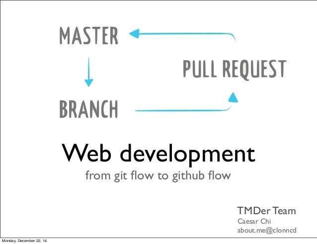 Web development, from git flow to github flow