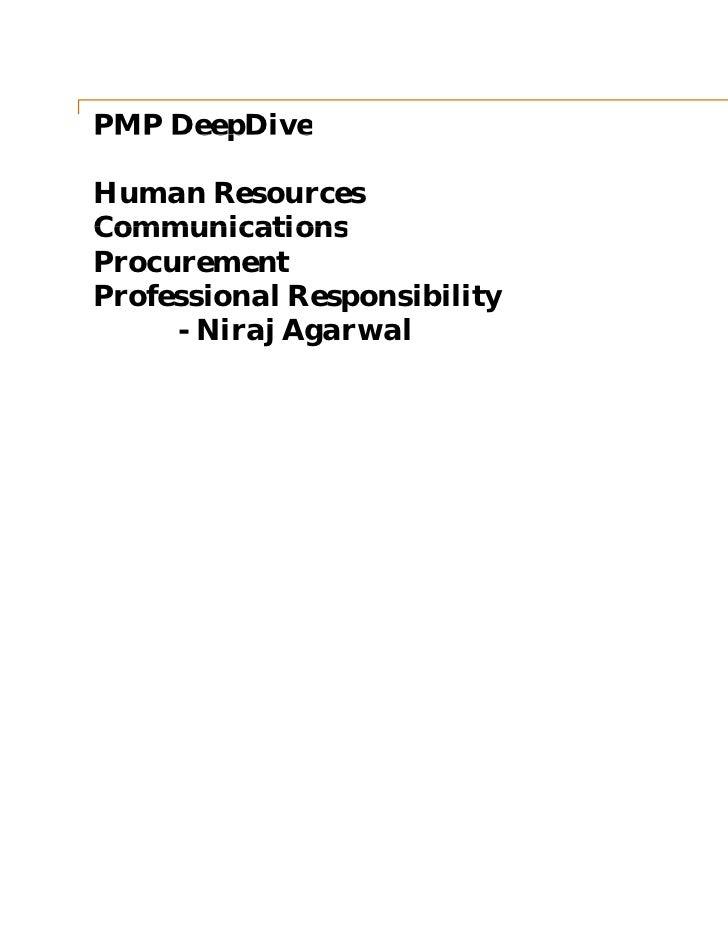 Pm deep dive   hr - comm - procurement - pr