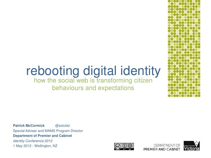 rebooting digital identity            how the social web is transforming citizen                  behaviours and expectati...