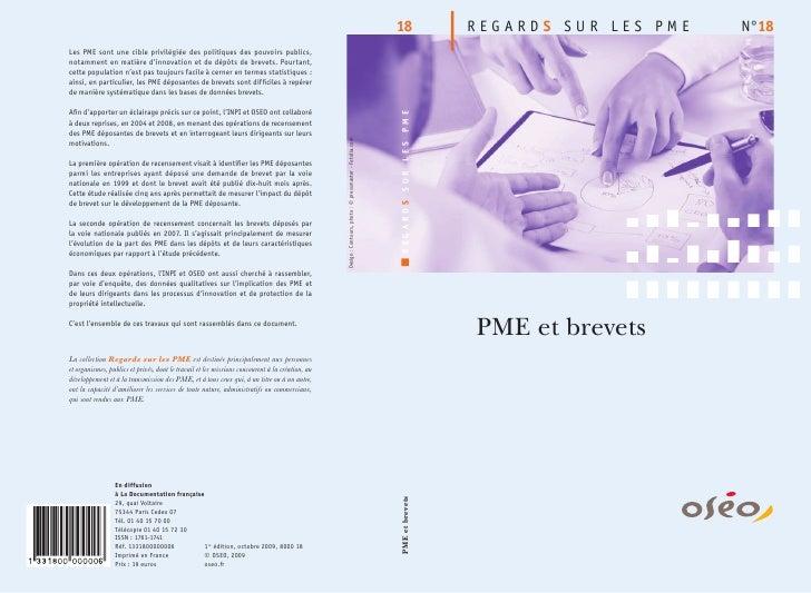 REGARDS SUR LES PME   N°18PME et brevets