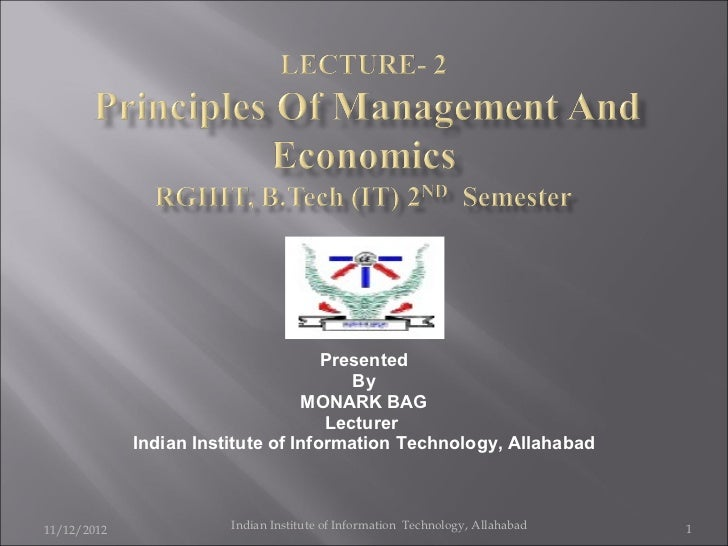 Presented By MONARK BAG Lecturer  Indian Institute of Information Technology, Allahabad 11/12/2012 Indian Institute of Inf...
