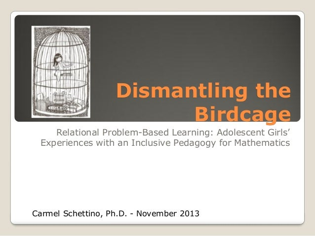 Dismantling the Birdcage Relational Problem-Based Learning: Adolescent Girls' Experiences with an Inclusive Pedagogy for M...